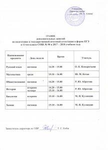Расписание ЕГЭ 001