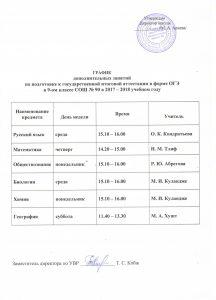Расписание ОГЭ 001